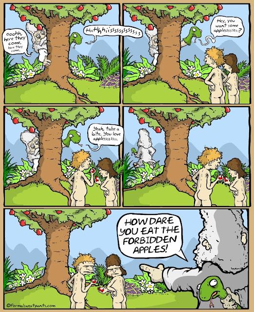 Funny God's Devil Sock Puppet Cartoon Picture
