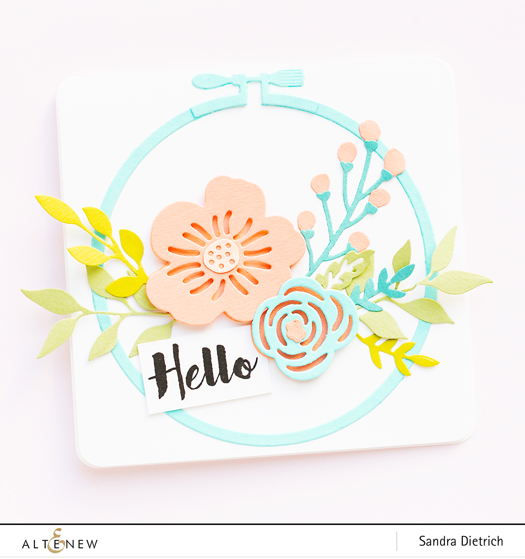 Altenew | Spring Cardmaking | Layered Floral Elements Die @SandraDietrich for @Altenew