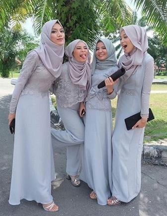 Model Kebaya Brokat Modern Untuk Muslimah Yang Sederhana