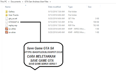 Save Game GTA SA & GTA 3 + Cara Memasang Save Game GTA All Versi