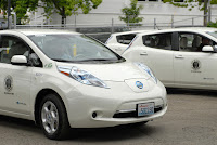 Nissan Leaf electric vehicles added to the City of Seattle fleet. (Credit: Mayor McGinn, CC by 2.0) Click to Enlarge.
