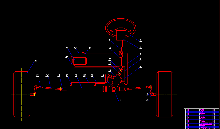 sơ đồ bố trí hệ thống lái TOYOTA FORTUNER 2009