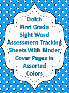 Dolch First Grade Sight Word Assessment Tracking Binder