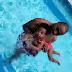 Davido takes his daughter swimming (Photos)