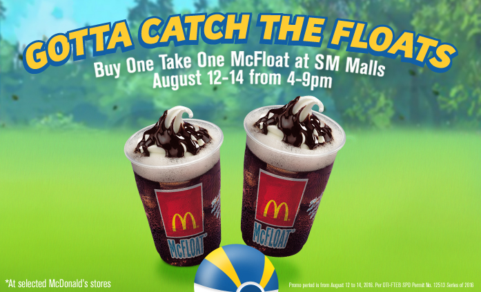 Mcdonalds Gotta Catch the Floats