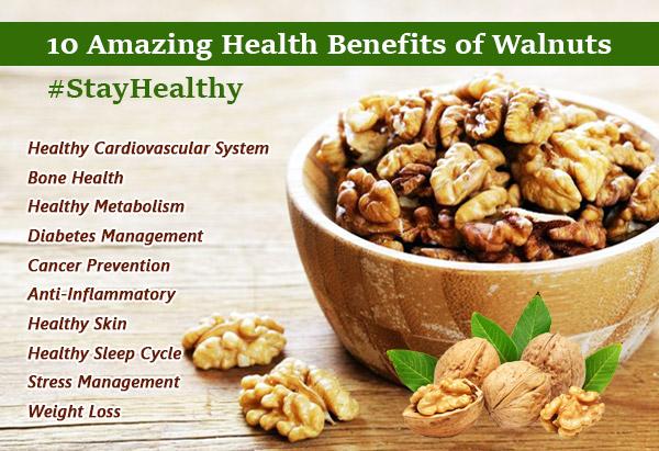 10 Amazing Health Benefits of Walnuts #StayHealthy