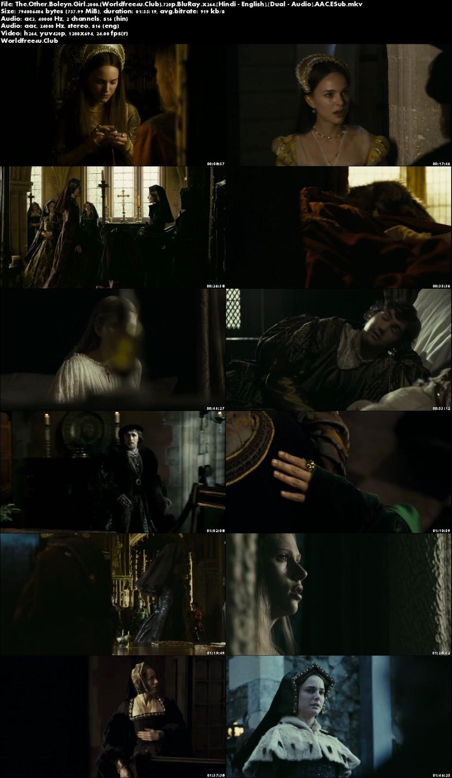 Screen Shoot of The Other Boleyn Girl 2008 BRRip 720p Dual Audio In Hindi English ESub Watch Online