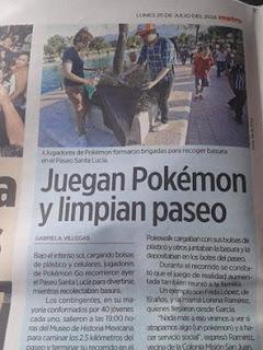 juegan pokemon go y limpian las calles un buen ejemplo