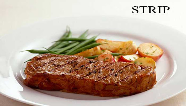 strip beef steak