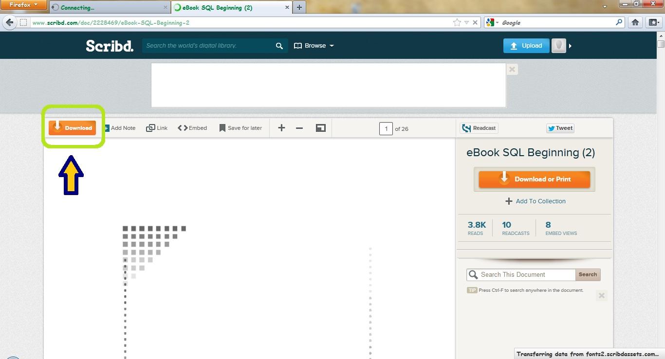 Cara Mendownload Document/File di Scribd Dengan Gratis - Blog Kang Ahmed
