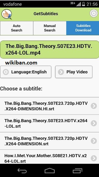 add subtitle file on android