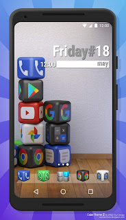 Cube Theme 2 default Homescreen