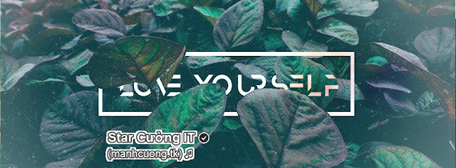 Share PSD Ảnh Bìa Facebook 'Love Yourself'