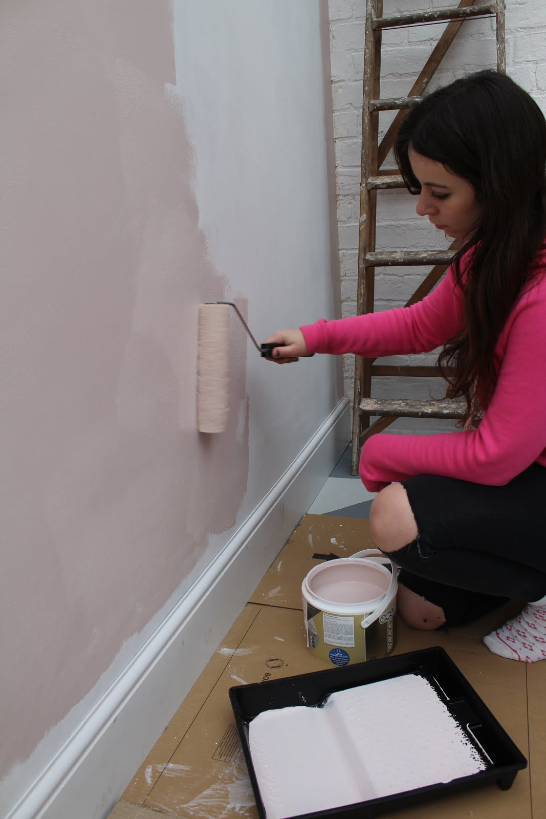 Painting With Pink
