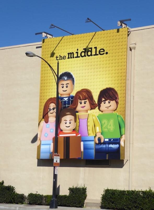 The Middle Lego billboard WB Studios