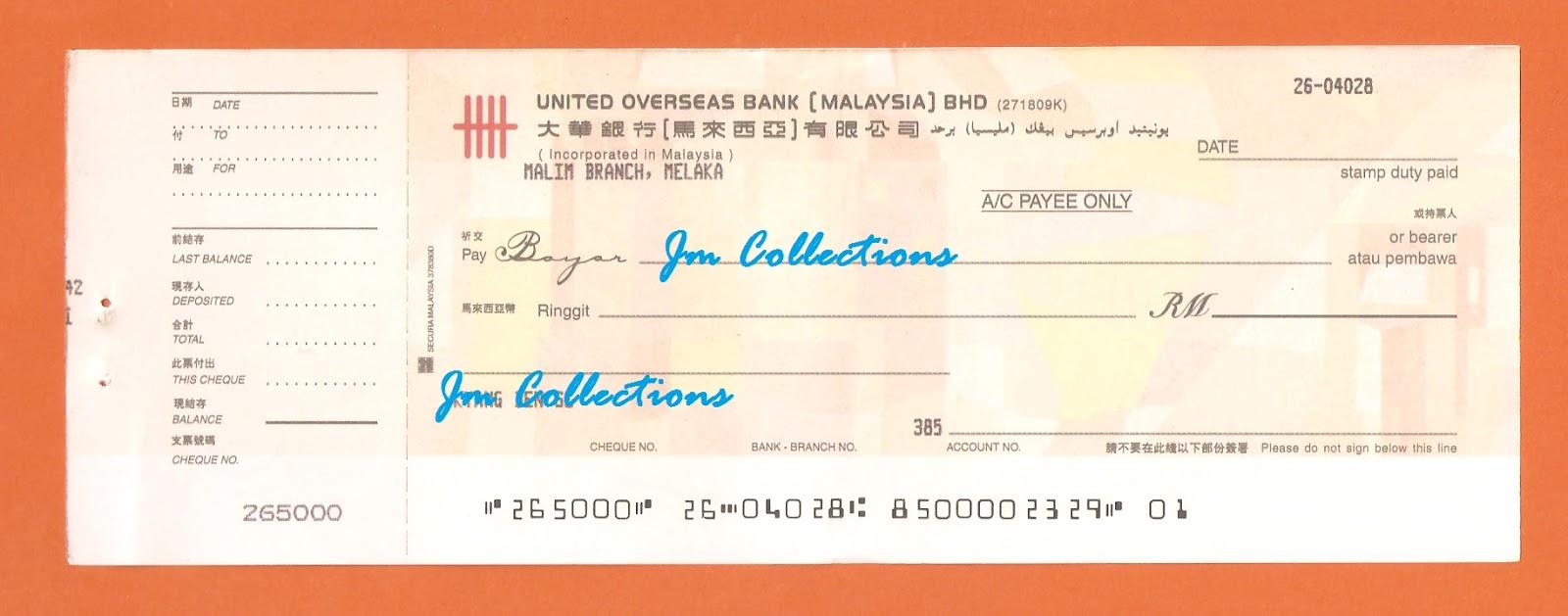 UNITED OVERSEAS BANK MALAYSIA BERHAD Branches' Swift
