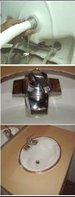تركيب مغسلة الحمام داخل الطاوله
