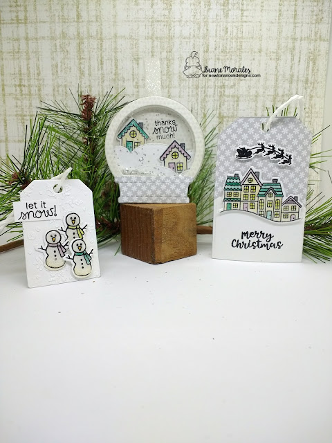Let it snow by Diane features Snow Globe Scenes by Newton's Nook Designs; #newtonsnook