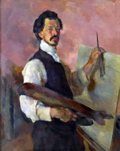 Aksel Karl Jorgensen, Self Portrait, Portraits of Painters, Fine arts, Karl Jorgensen, Portraits of painters blog, Paintings of Aksel Karl Jorgensen, Painter Aksel Karl Jorgensen