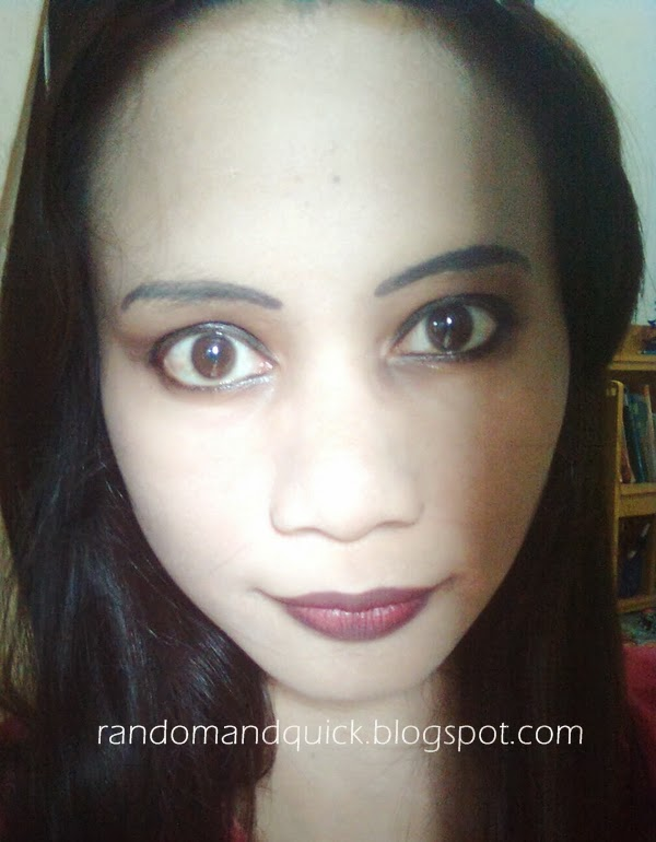 Random Wonderland: Gothic Stage Makeup Inspired Look