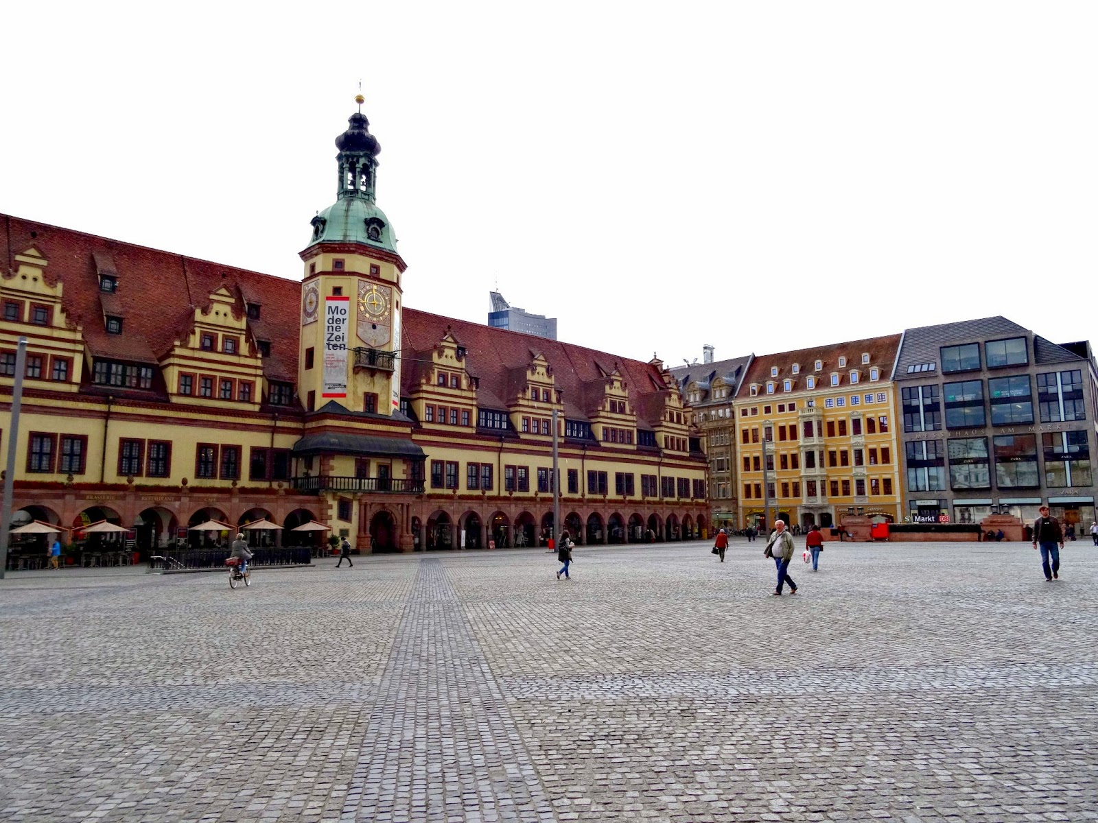 Leipzig market and town hall