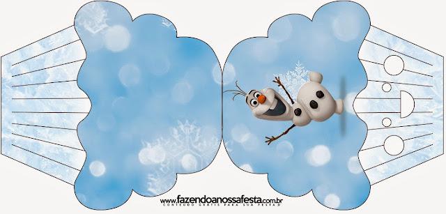 Tarjeta con forma de  Cupcake de Olaf.