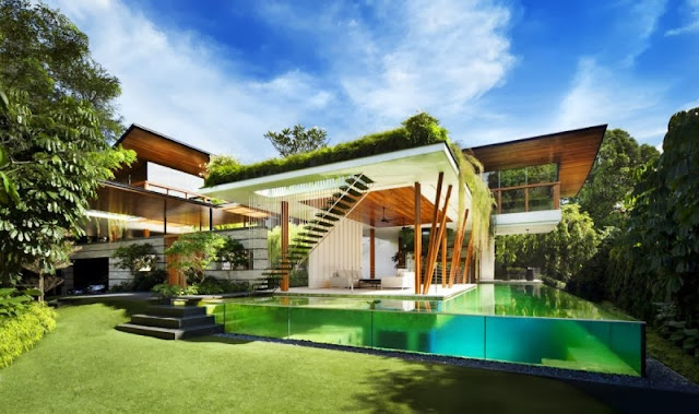 The Willow House in Singapore with Garden Roof
