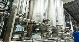industrial sanitary stainless steel process tanks
