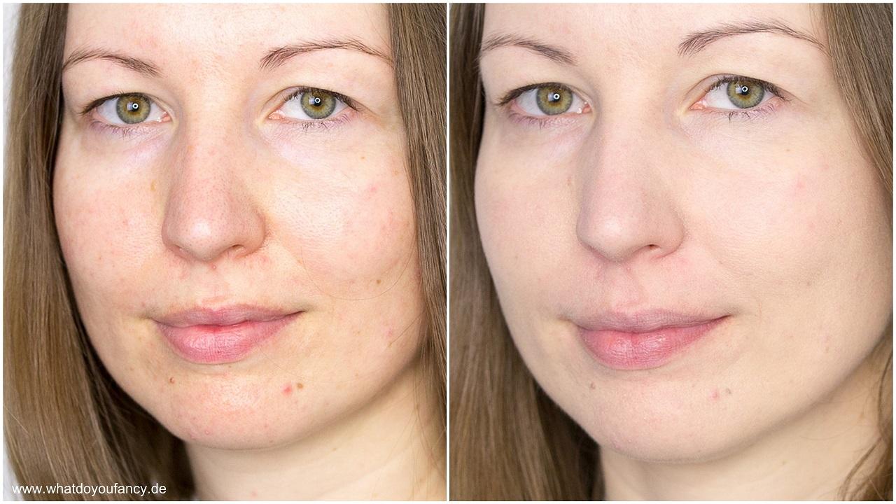 Giorgio Armani Maestro Fusion Makeup Foundation Farbton 3 Vergleich vorher nachher