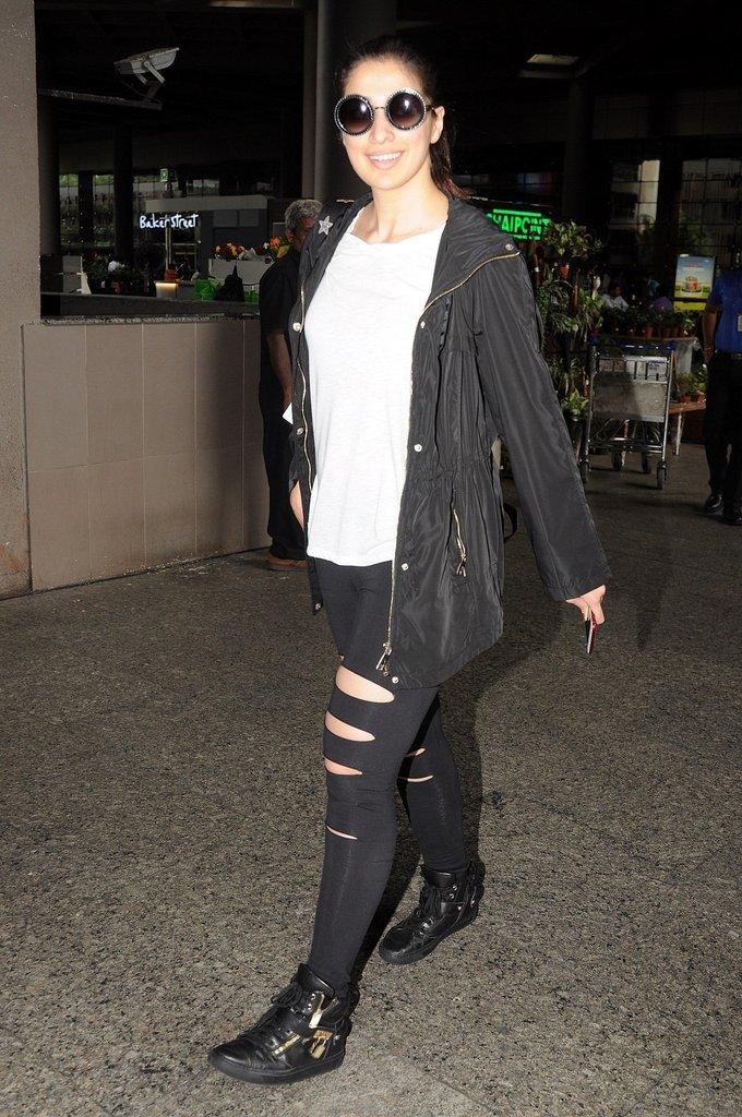 Laxmi Raai Spotted at Mumbai Airport