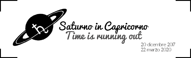 Saturno in Capricorno: Time is running out