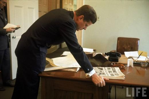 President John F Kennedy By Paul Schutzer 1961 Vintage