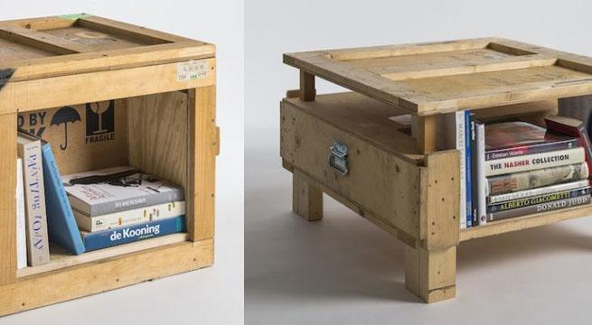 Marzua muebles hechos con cajas de embalaje - Mesas hechas con cajas de madera ...