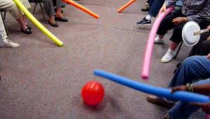 Chair Hockey with Pool Noodles