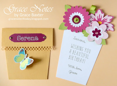 Flower Pot Pocket Card, by Grace Baxter
