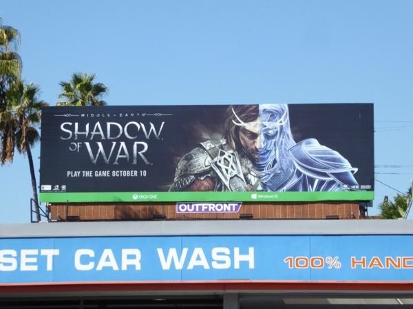 Shadow of War game billboard