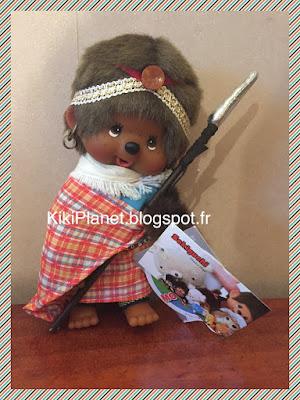 "Le Monchhichi Kenyen !  ""Monchhichi Kenya World Collection"" 2766, kiki, kiki le vrai,, sekiguchi, ajena, jouet vintage"
