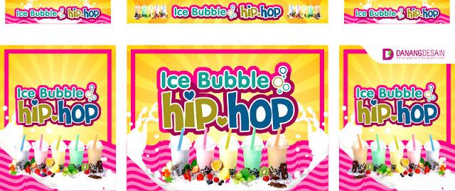 Contoh Desain Banner atau Spanduk Ice Bubble - Contoh ...
