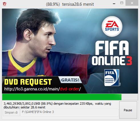 Cara Install FIFA Online 3 Garena Indonesia Terbaru 22