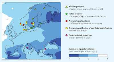 Two volcanoes trigger crises of the late antiquity