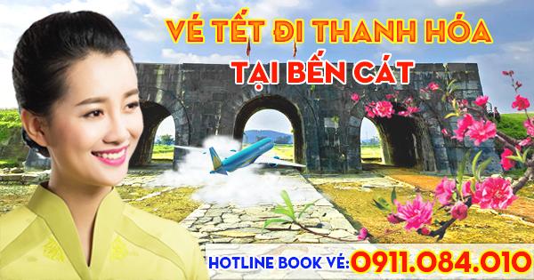 Bán vé máy bay Tết nguyên đán đi Thanh Hóa tại Bến Cát tỉnh Bình Dương