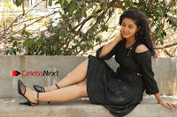 Telugu Actress Pavani Latest Pos in Black Short Dress at Smile Pictures Production No 1 Movie Opening  0099.JPG