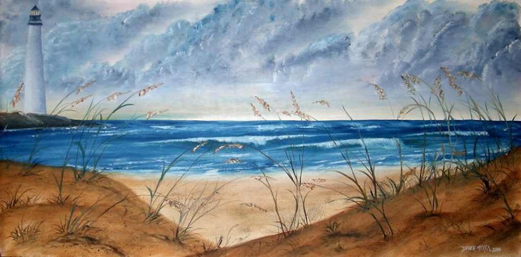 Watercolor Paintings Art By Derek Mccrea Large Beach