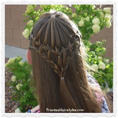 Gorgeous hairstyle for school, umbrella lace video tutorial.