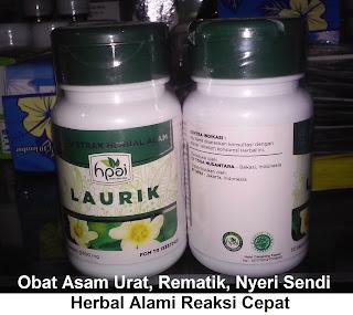 Obat asam urat rematik nyeri sendi LAURIK HPAI asli organik herbal tradisional