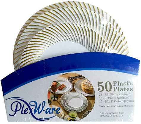Amazon has got a 50-piece  Look Like Real  disposable plates for $18.99 with free Prime shipping. This set received 4.5 out of 5 stars over 123 customer ...  sc 1 st  Daily Cheapskate & Daily Cheapskate: EARLY BIRD SUCCOS DEAL: 50-piece
