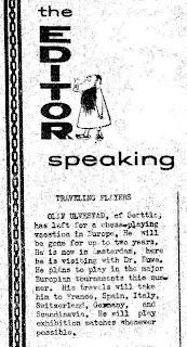 Ejemplar del Washington Chess Letter en 1960