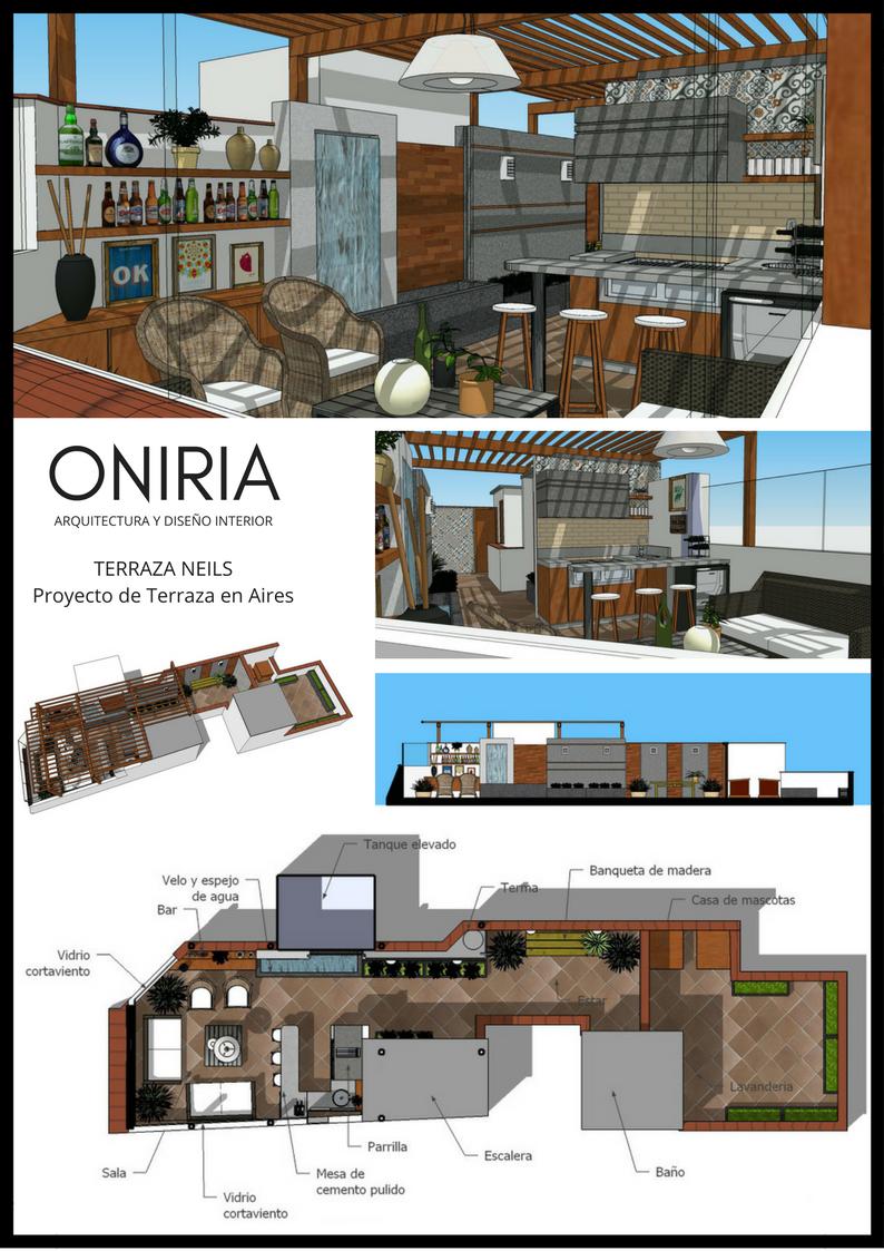 Oniria dise o y construccion de terrazas y parrillas for Arquitectura planos y disenos