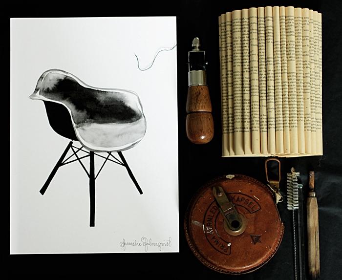 konsttryck, stol, stolar, poster, posters, print, prints, tavla, tavlor, webbutik, webbutiker, webshop, inredning, annelies design, svartvitt, svartvit, svartvita, loppis, loppisfynd, verktyg, trä, trähandtag, vika en bok, vikt, bok, vikta böcker, diy, second hand, vintage, läder,