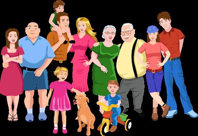 Resultado de imagen de familia con abuelos y tios